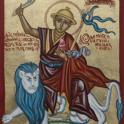 Byzantine Art Form of Saint Dorje Shugden