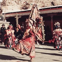 Dorje Shugden Cham Dance in Nyemo Gyelche Monastery, Tibet