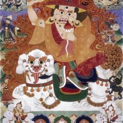 Mongolian State Oracle Paints Dorje Shugden
