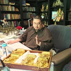Growing up with Rinpoche: Offering Vajra Yogini to visiting monks