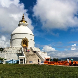 Bishwo Shanti Stupa – the Peace Pagoda in Pokhara, Nepal