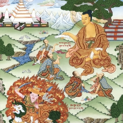 Buddha Shakyamuni Turning the Wheel of Dharma