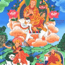 Lama Tsongkhapa Sitting on an Elephant