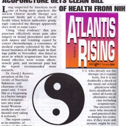 Acupuncture gets clean bill of health from NIH