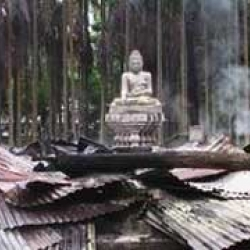 Buddhist temples, homes burned, looted in Ramu