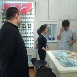 Caring Rinpoche bought new glasses for students