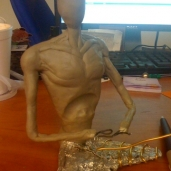 Joshua's Clay Emaciated Buddha