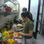 Shirley Tan in Ladrang cooking for Liaisons meeting