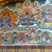 Excellent Thangka at Gyuto Tantric College