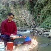 Puja at Naropa's Cave, Kathmandu, Nepal