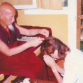 Kyabje Zong Rinpoche Cuts My Hair