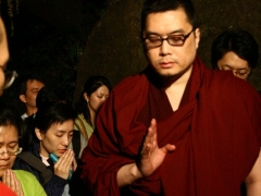 I was in solemn prayer as I entered the meditational cave of Naropa and Tiilopa at Sangkhu Monastery
