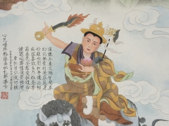A beautiful painting of Dorje Shugden depicted in traditional Chinese art style, commissioned by Tsem Rinpoche.