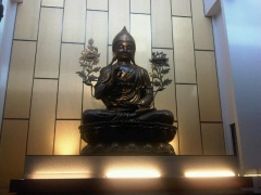12 foot Tsongkhapa on the main altar, designed by Kechara Discovery