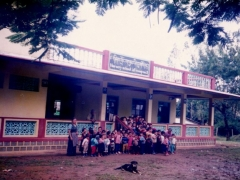 I sponsored this nursery and the community hall of the villagers.