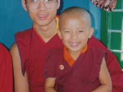 This is me with the current Zong Rinpoche. He would always call on me to carry him. Upon meeting up, he recognized me instantly and asked me to pick him up.