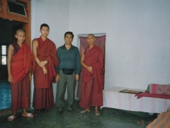 In India, Tsem Ladrang was built and sponsored by my birth father, Lobsang Gyatso (pictured here in lay clothes). He is a disciple of H.H. Panchen Lama.