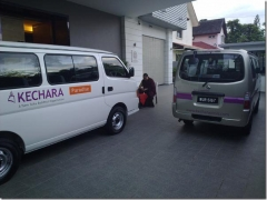 Two of our departments in KECHARA just purchased vans...very nice. 