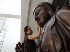 Working on our Kechara Buddha