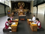 Puja conducted in Wisdom Hall, Kechara Forest Retreat, Bentong, Malaysia - picture credit Jill Yam, shared by Pastor Antoinette
