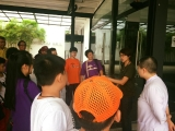 Jace Chong explaining about the birds in Kechara Forest Retreat to a group of visitors