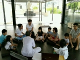 Children Dharma class on Sundays in Wisdom Hall - shared by Pastor Antoinette