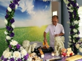 Pastor Tat Ming did the last rites for this dog before cremation at Heavenly Gate.