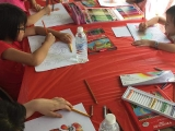 Colouring contest at Grand Dorje Shugden Puja in Kechara Forest Retreat