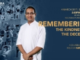 Dharma Talk by Pastor Niral Patel tomorrow Saturday 4 March 17 at 2pm in Wisdom Hall, Kechara Forest Retreat.