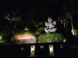 Light offerings to Mother Tara at Kechara Forest Retreat
