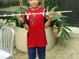 Thank you to our young volunteer to improve the life of the birds in our aviary!