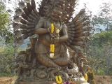 "Manjushri Nagarakshasa ""This form is extremely vajra ferocious and protects our land and ourselves from interferences, spirits, nagas, magic and bless our karma to promote powerful healing in our bodies."" ~Tsem Rinpoche If you would like to volunteer to do landscaping around Manjushri Nagarakshasa in Kechara Forest Retreat an act of offering this Wednesday to Friday (from 9am to 7pm), please send us a message for more details."