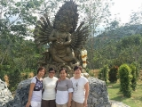 Happy Visitors at Manjushri Nagarakshasa in Kechara Forest Retreat, Bentong