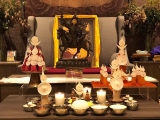 Lord Gyenze puja conducted at Wisdom Hall, Kechara Forest Retreat. Gyenze is Lord Dorje Shugden in a Wealth form specifically to help us gain resources through correct means.