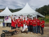 2017 edition of Hari Malaysia Gotong Royong at Kechara Forest Retreat cleaning up Jalan Chamang