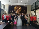Congratulations to the newly wed couple, who received blessings from Kechara's Pastor Tat Ming at Kechara Forest Retreat, Wisdom Hall.