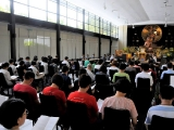 On H.E. Tsem Rinpche's birthday, many people were attending the Lama Chopa Puja in Kechara Forest Retreat Wisdom Hall, dedicated to H.E. Tsem Rinpoche's long life and good health.