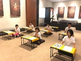 Ready for the Manjushri kids and teenagers retreat with a good motivation at Wisdom Hall, Kechara Forest Retreat, Bentong
