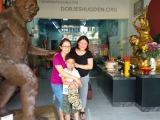 Pastor Yek Yes together with her friend from schooldays Tang Li Fang and her son Grayson at the Bigfoot store in Bentong. - shared by Pastor Antoinette