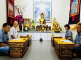 Lama Chopa puja in Puja House, Bentong. Through the Lama Chopa puja are making a request to all the lineage Gurus for blessings, protection and increased merits for our loved one, ourselves and friends quickly. - picture courtesy from Pastor Yek Yee, shared by Pastor Antoinette