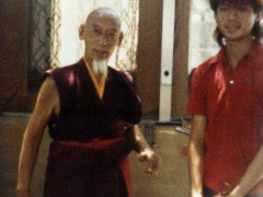 H.H. Kyabje Zong Rinpoche and Tsem Rinpoche in Los Angeles