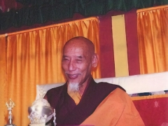 His Holiness Kyabje Zong Rinpoche laughing