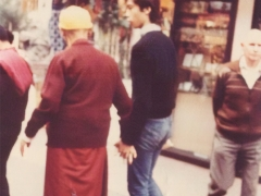 An affectionate moment between Guru and disciple (Tsem Rinpoche)
