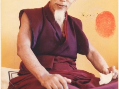 This portrait of Kyabje Zong Rinpoche was signed and sealed with his thumb print especially for Tsem Rinpoche
