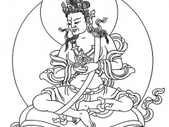 Line drawing of Mahasiddha Naropa