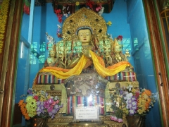 The statues in Gaden monastery exude a glow of warm prayer of many years of monastic prayers