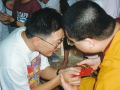 After the Manjushri initiation, I met almost every single person individually so that I could talk to them.