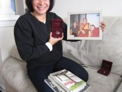 On their last morning in Howell, the TSEM RINPOCHE BIO TEAM had a surprise interview with Dawn Giordano Garofalo, who was my classmate.   She was very sweet and warm, even though it was at such short notice, welcoming them into her lovely home.