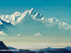 """Mount of Five Treasures (Two Worlds). From """"Holy Mountains"""" series. 1933"""