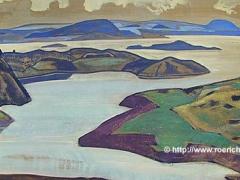 Karelia landscape (Lake Ladoga). 1918